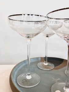 Crystal Champagne Martini Coupe | Clear