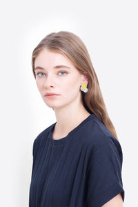 Ettie Clip On Earring | Sulphur/Blush/Light Grey