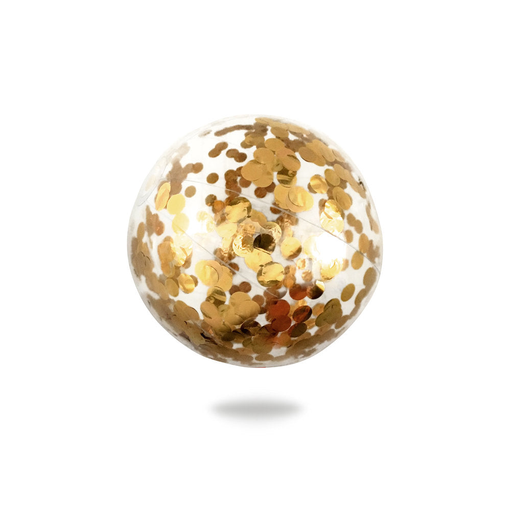Minnidip Confetti Beach Ball | Gold