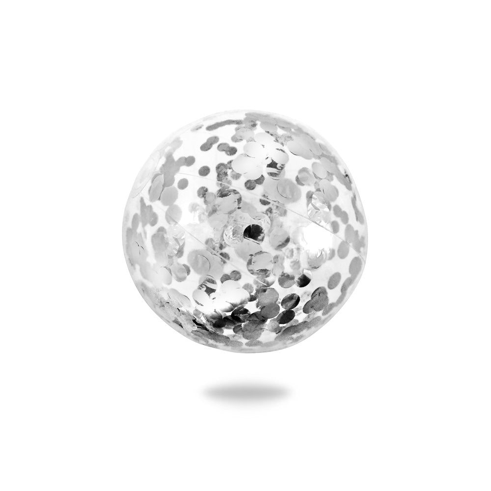 Minnidip Confetti Beach Ball | Silver