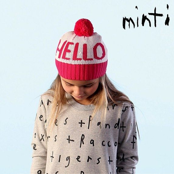 Hello Beanie | Cream and Pink
