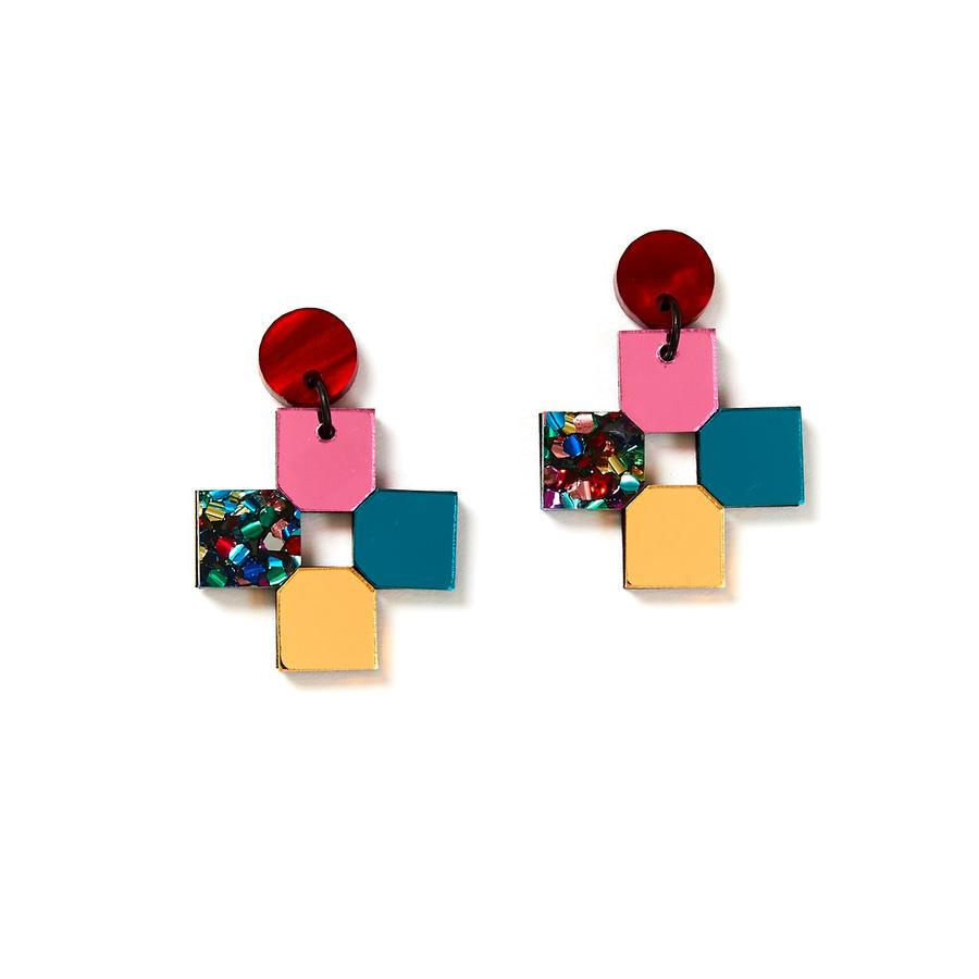 Cross Earrings | Disco