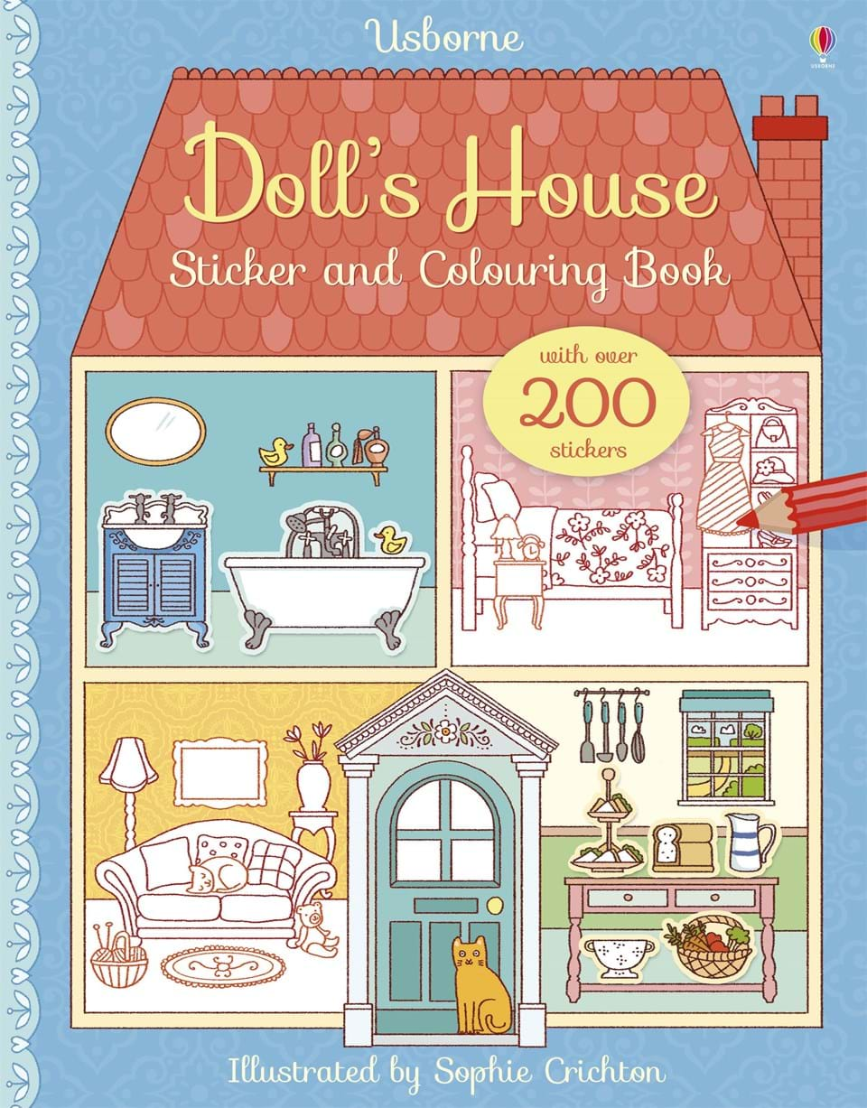 Dolls House Sticker & Colouring Book
