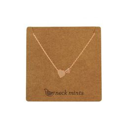 Neckmint | Double Heart Necklace Rose Gold
