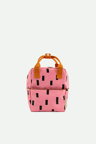 small backpack | bubbly pink + carrot orange