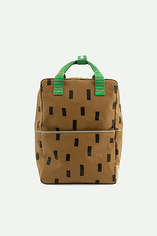 large backpack | brassy green + apple green