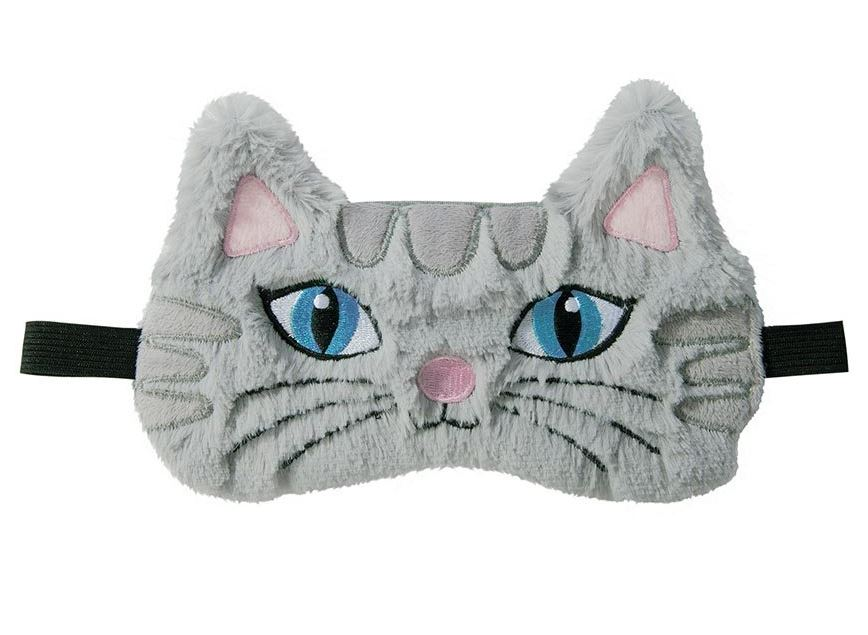Plush Kitty Cat Sleep Mask | Grey Cat