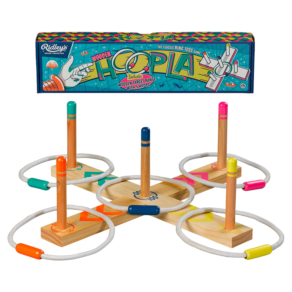 Wooden Hoopla Ring Toss Game