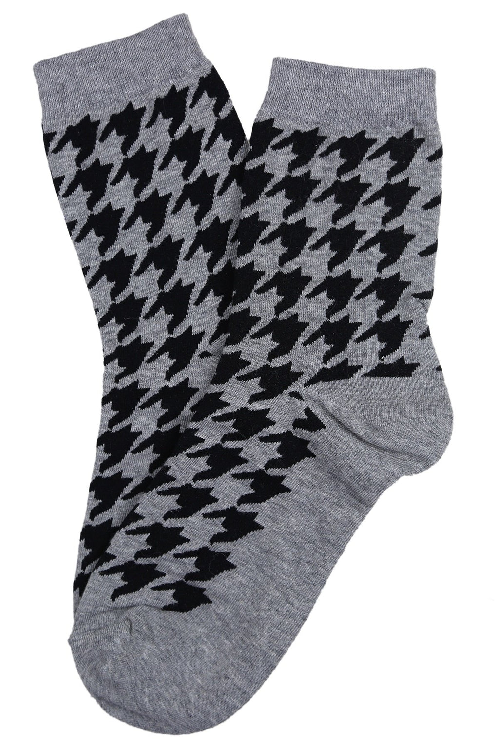 Hilary Houndstooth Socks | Grey