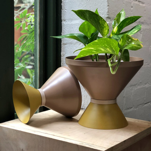 Tone Planter 2 | Mustard/Bark | small