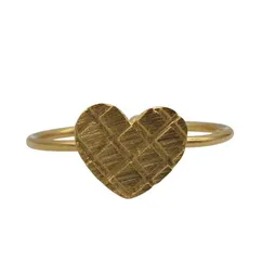 Textured Heart Ring | Gold