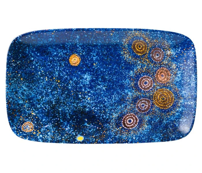 Aboriginal Art Bone China Plate | Various Colours
