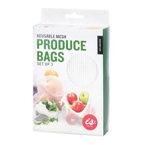 Reusable Mesh Produce Bags - Set Of Three