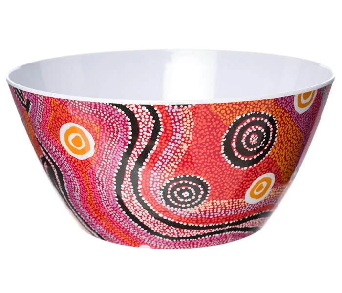 Aboriginal Art Salad Bowl | Various Colours