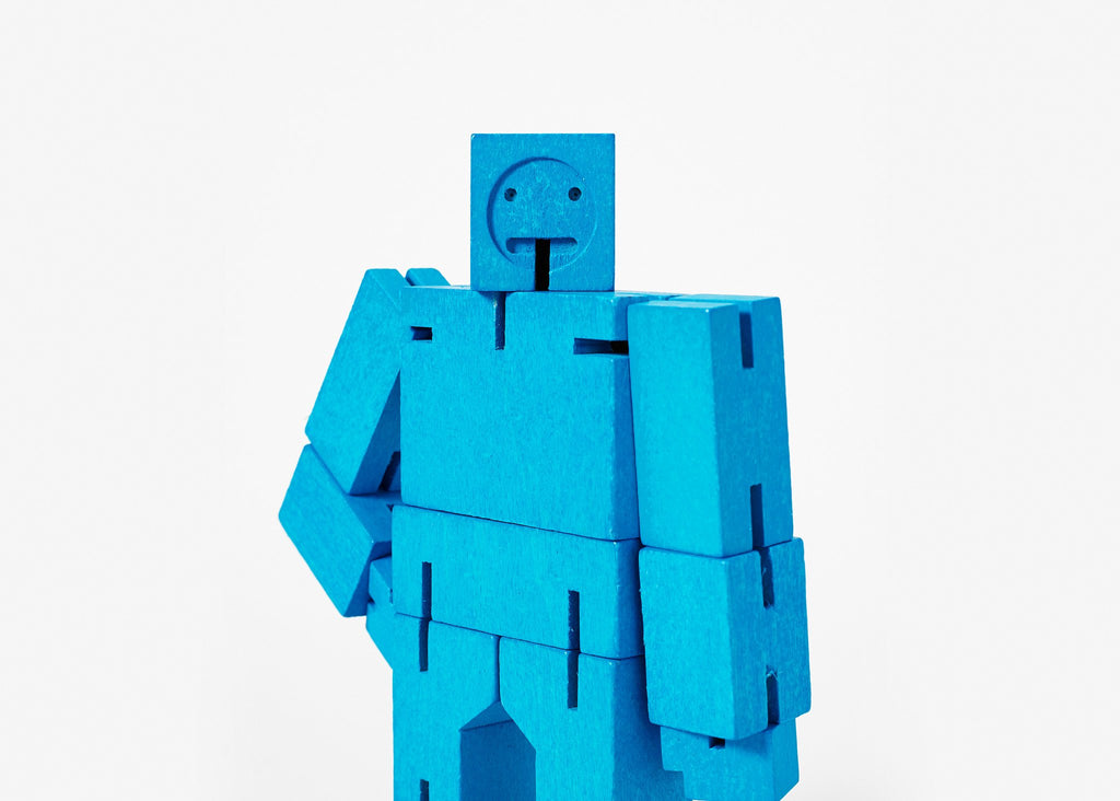Blue Cubebot -  Small