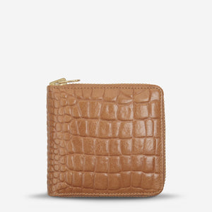 empire wallet | tan croc