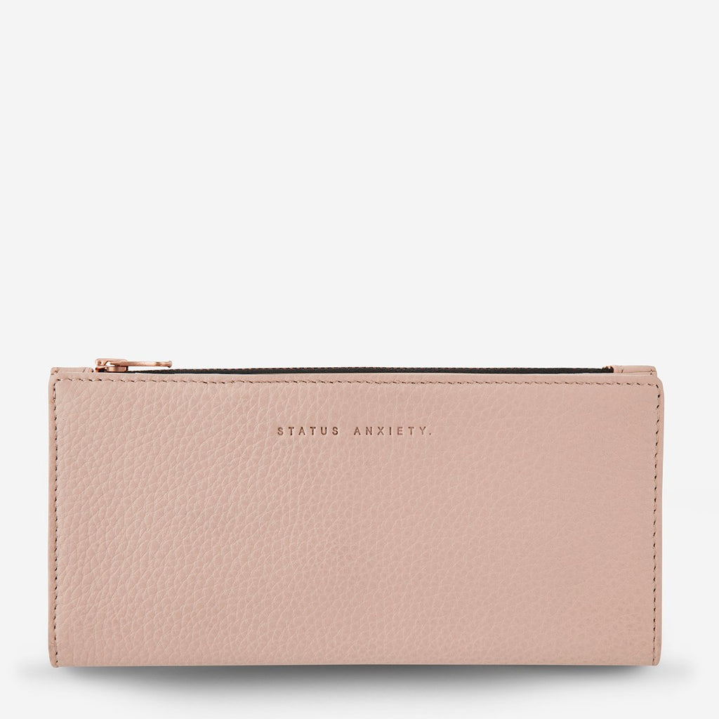 in the beginning wallet | dusty pink