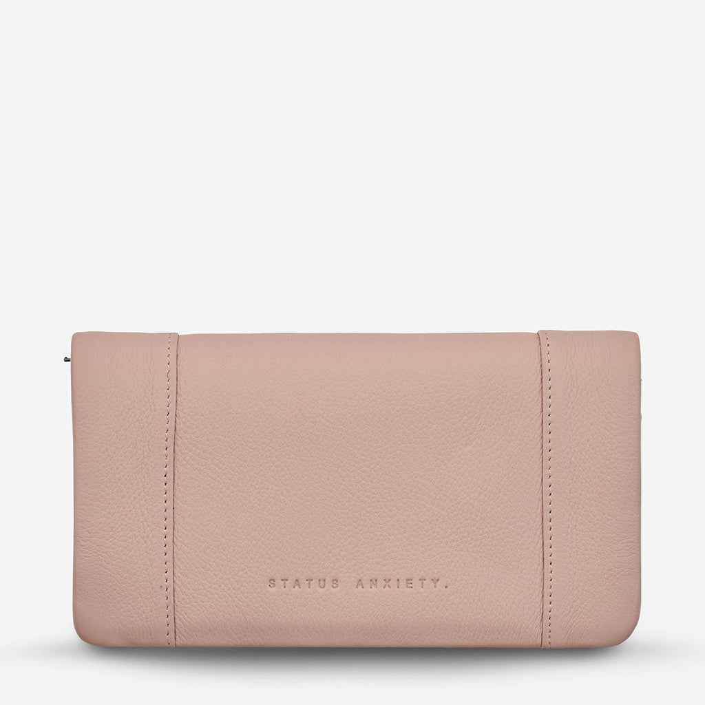 some type of love wallet | dusty pink