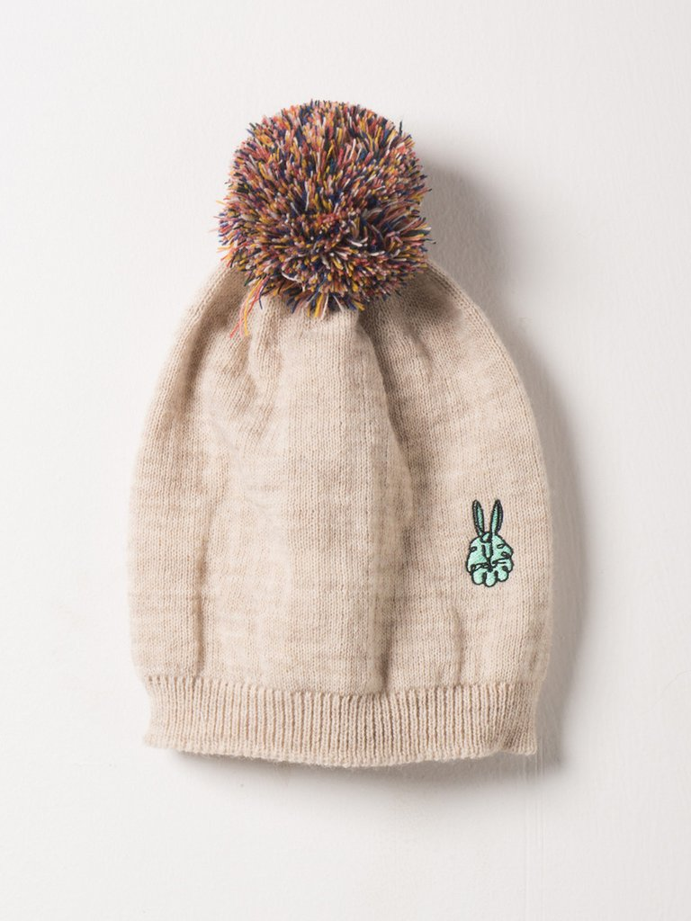 Knitted Bunny Beanie | Cream
