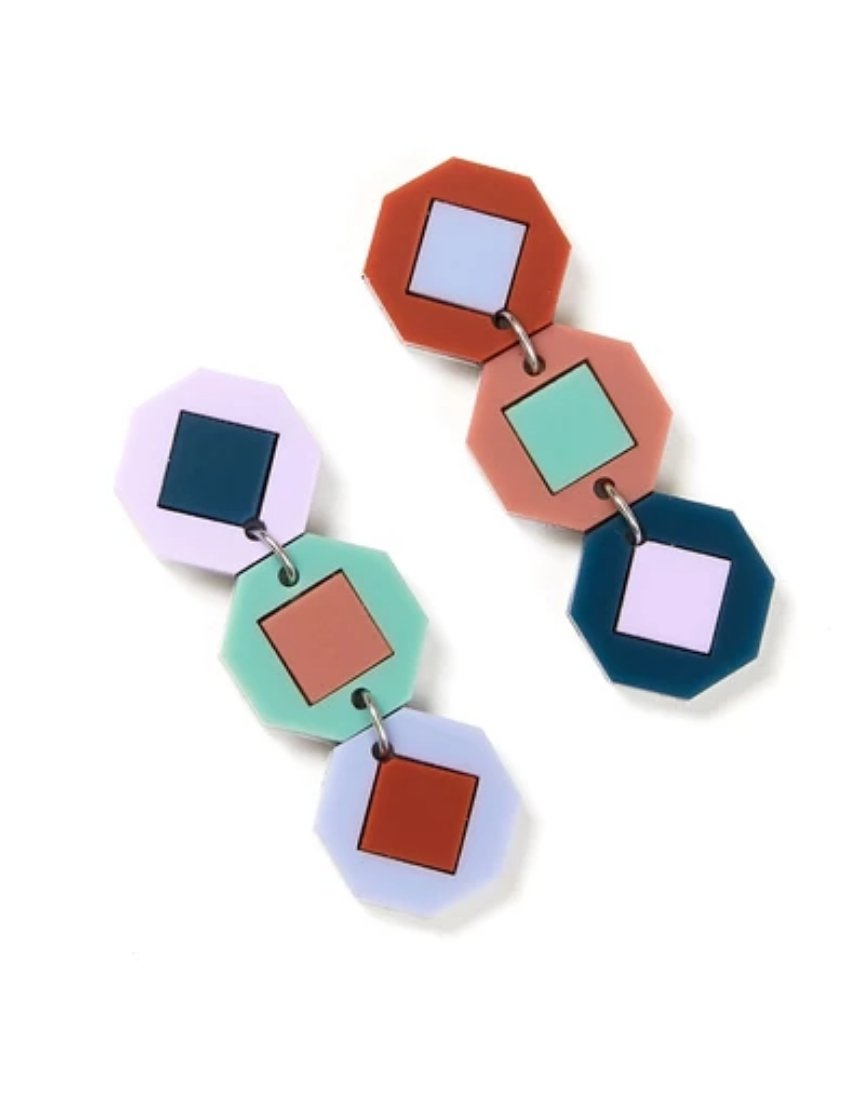 Tile Earrings | Multi