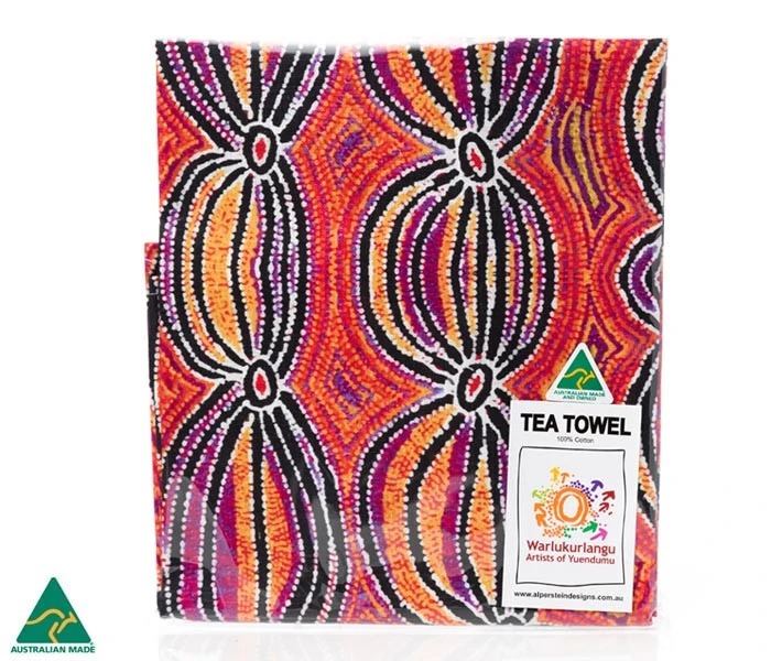 Aboriginal Art Tea Towel | Various Colours