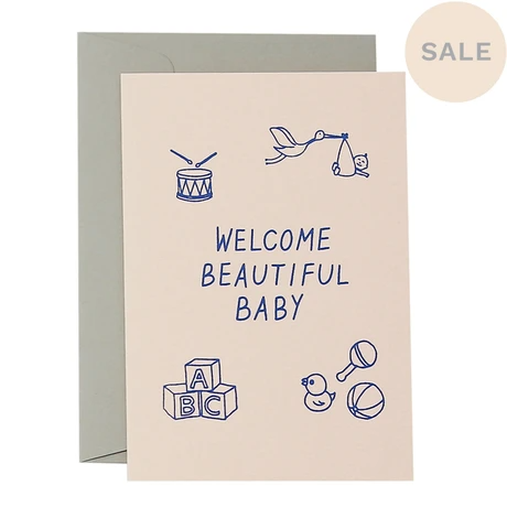 Welcome Beautiful Baby | Blue