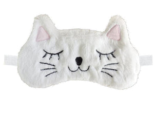 Plush Kitty Cat Sleep Mask | White Cat