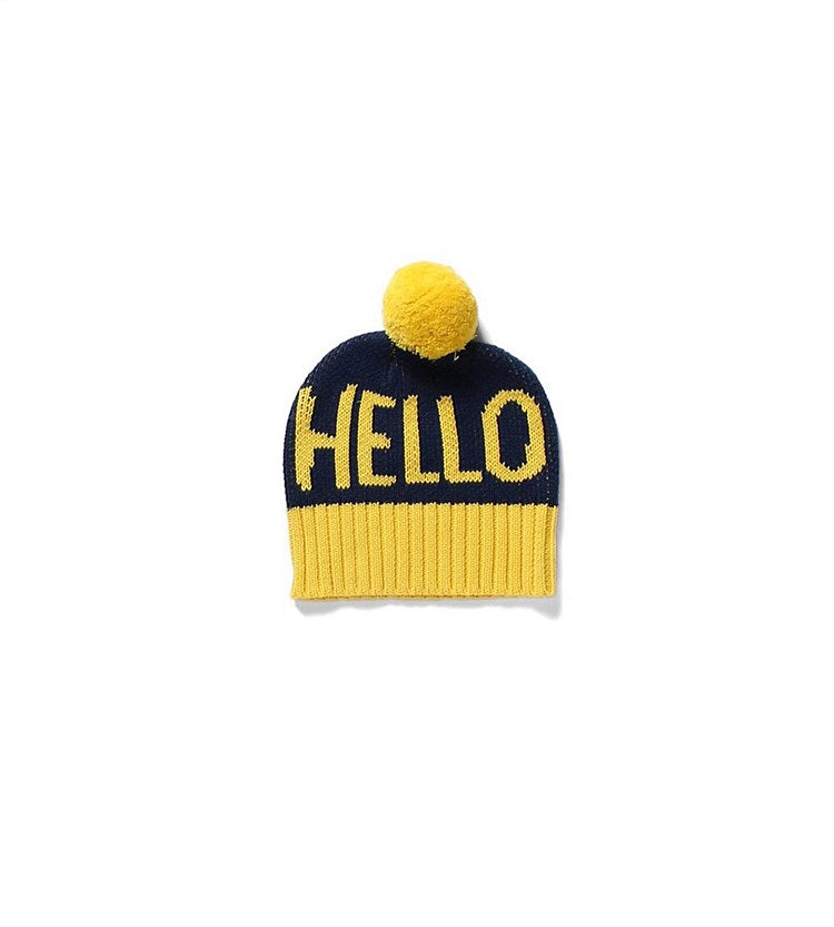 Hello Beanie | Yellow and Black