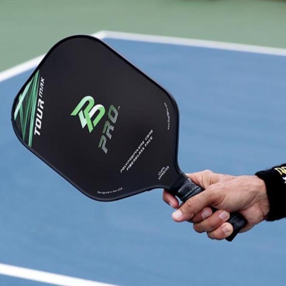 PB Pro™ Tour Max Green 8.3 oz Fiberglass Paddle USAPA Approved - PB PRO™ Pickleball Brand