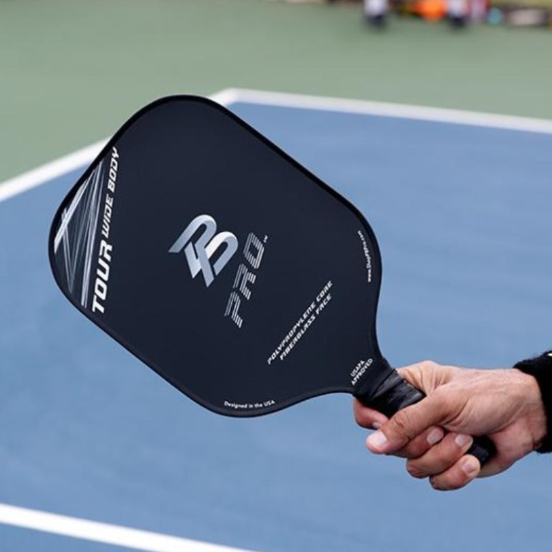 PB Pro™ Tour Widebody 8.3 oz Gray Fiberglass Paddle USAPA Approved - PB PRO™ Pickleball Brand