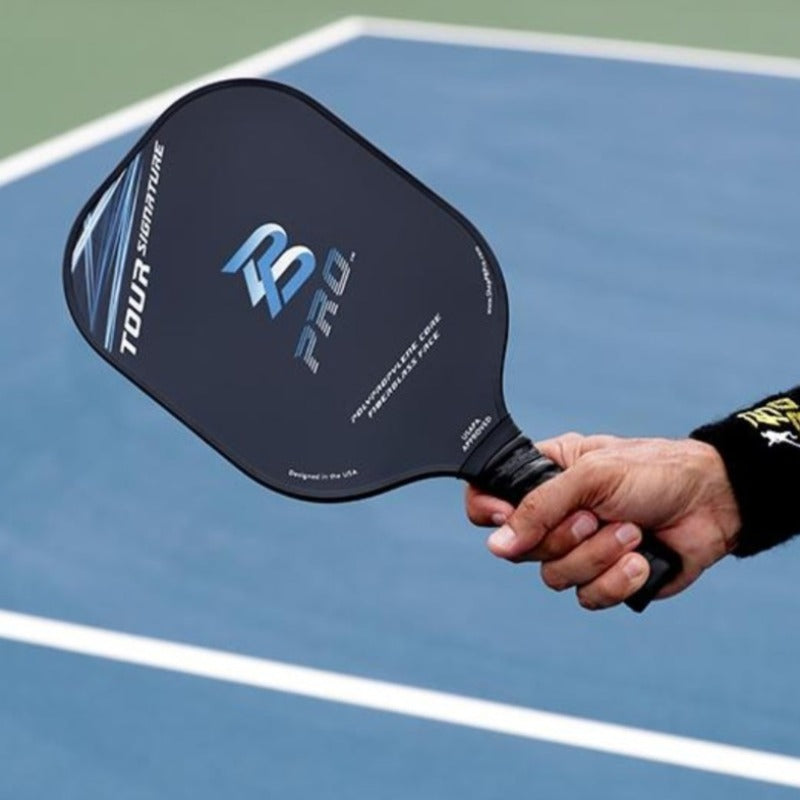 PB Pro™ Tour Signature 9.3 oz Blue Fiberglass Paddle USAPA Approved - PB PRO™ Pickleball Brand