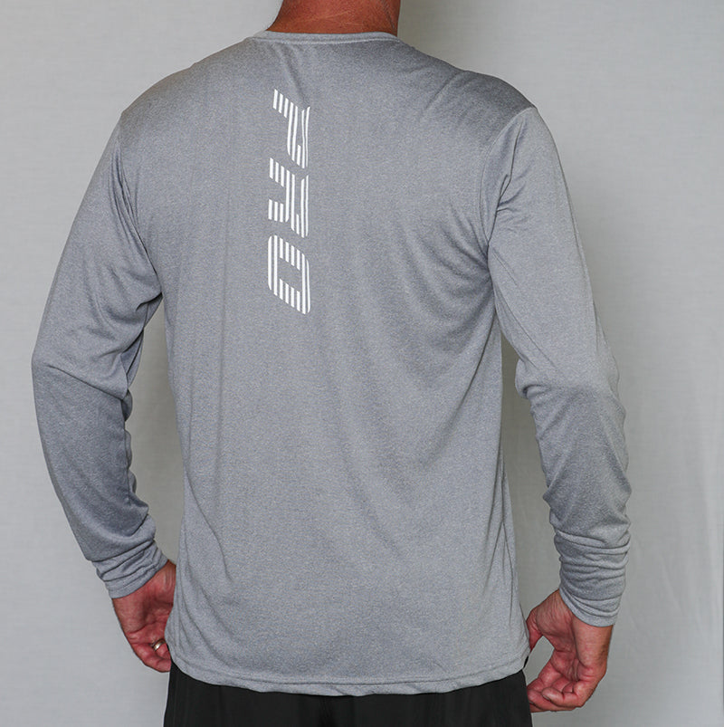 PB Pro™ Men's High-Tech Cationic Athletic Heather Long Sleeve - PB PRO™ Pickleball Brand