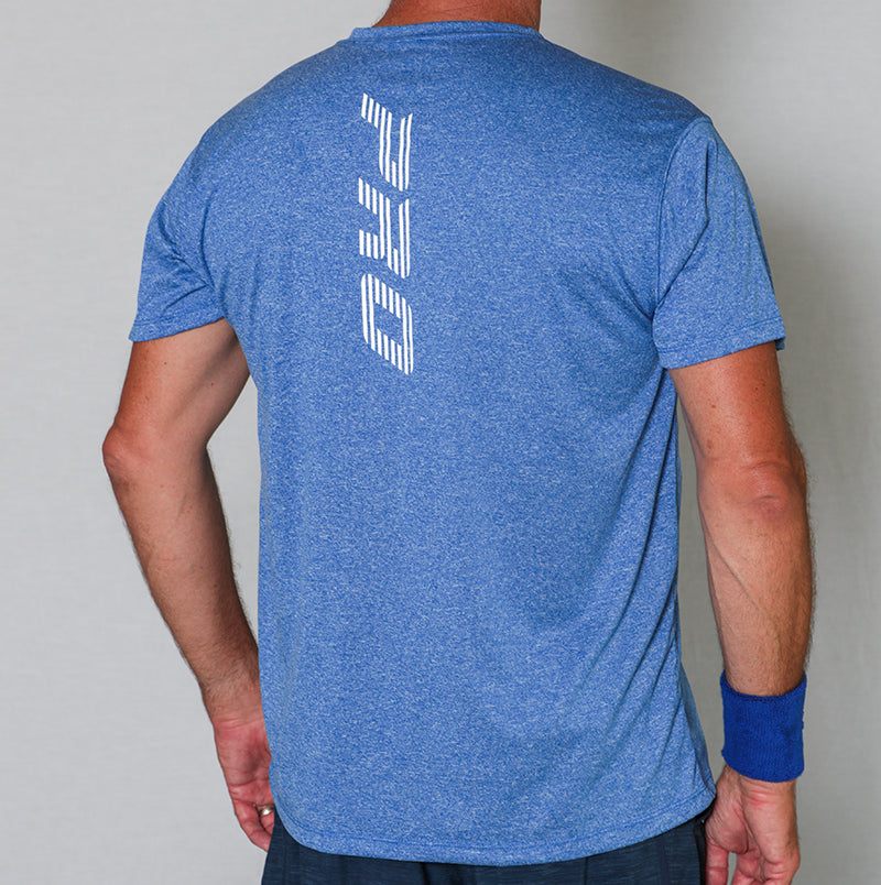 PB Pro™ Men's High-Tech Cationic Royal Heather T-Shirt - PB PRO™ Pickleball Brand