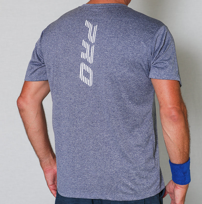 PB Pro™ Men's High-Tech Cationic Navy Heather T-Shirt - PB PRO™ Pickleball Brand