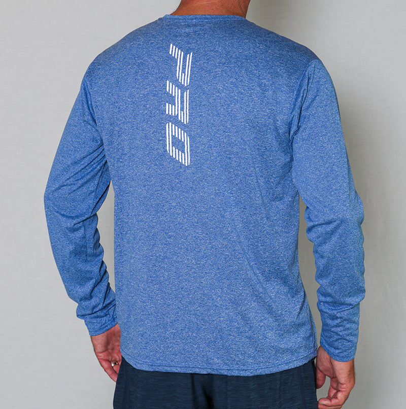 PB Pro™ Men's High-Tech Cationic Royal Heather Long Sleeve - PB PRO™ Pickleball Brand
