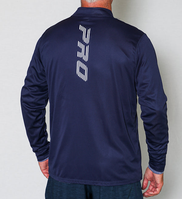 PB Pro™ Attain Men's Performance Navy 1/4 Zip Pullover - PB PRO™ Pickleball Brand
