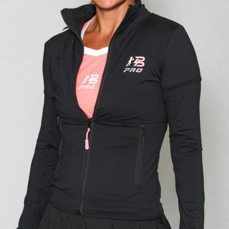 PB PRO™ Petite Athletic Fit Black Jacket - PB PRO™ Pickleball Brand