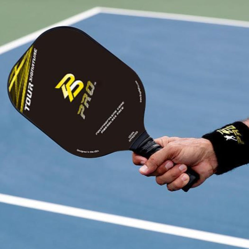 PB Pro™ Tour Signature Lite 8.5 oz Yellow Fiberglass Paddle - USAPA Appoved - PB PRO™ Pickleball Brand