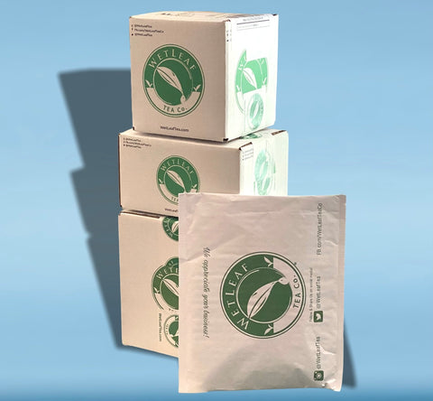 Wet leaf tea co. Shipping boxes