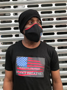 PEACEFUL PROTEST TEE + MASK SET || COTTON BLACK
