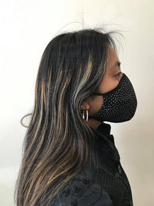 5M - VP2 WEIGHTLESS MASK - POLYPROPYLENE-BACKED SILK || POLKA DOT