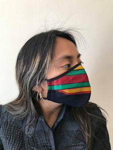 5M - VP2 WEIGHTLESS MASK - POLYPROPYLENE-BACKED COTTON || MAMA AFRICA BLACK