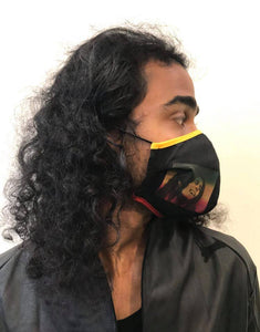 5M - VP2 WEIGHTLESS MASK - POLYPROPYLENE-BACKED COTTON || RASTALAND BLACK
