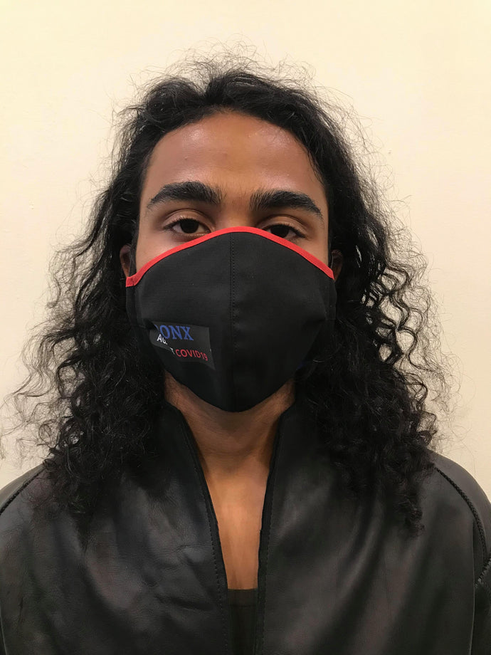 5M - VP2 WEIGHTLESS MASK - POLYPROPYLENE-BACKED COTTON || THE BRONX AGAINST COVID19