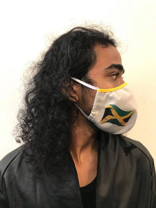 5M - VP2 WEIGHTLESS MASK - POLYPROPYLENE-BACKED COTTON || JAMAICANS AGAINST COVID19 KHAKI