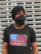 Load image into Gallery viewer, PEACEFUL PROTEST TEE + MASK SET || COTTON BLACK