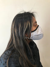 Load image into Gallery viewer, 5M - VP2 WEIGHTLESS MASK - POLYPROPYLENE-BACKED COTTON POPLIN || BLACK AND WHITE PLAID