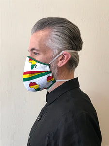 5M - VP2 MASK - POLYPROPYLENE-BACKED COTTON || AFRICA UNITE