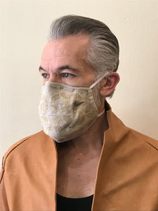 5M - VP3 SELF-FILTERING MASK - ORGANIC LINEN || GOLD EMBROIDERED