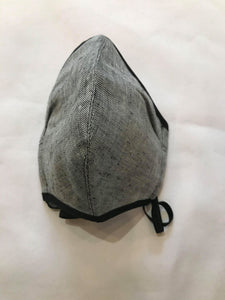 5M - VP2 WEIGHTLESS MASK - POLYPROPYLENE-BACKED LINEN || GREY